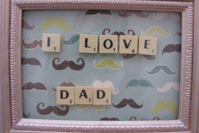 framed scrabble letters