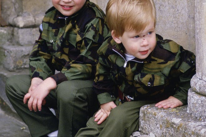 Young Prince William and Harry