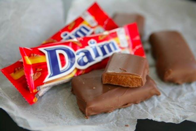20. Daim Bars in cabbage leaves