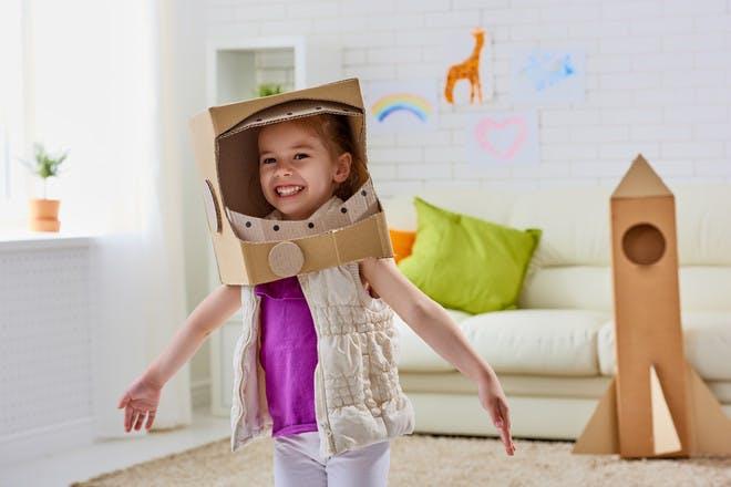 Girl dressed as atronaut