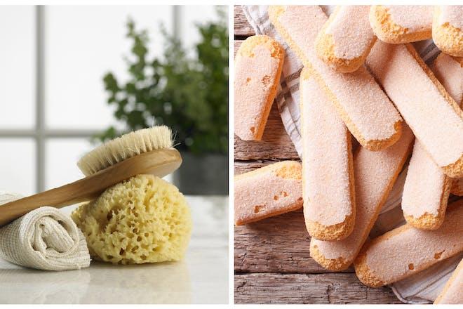 Bath sponge / sponge fingers