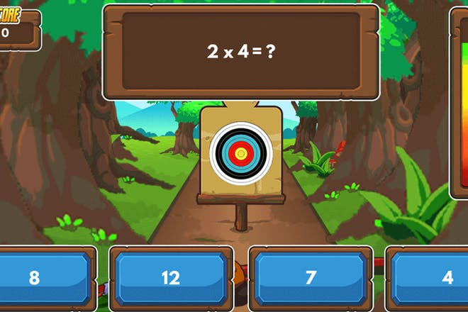 Archery arithmetic maths game