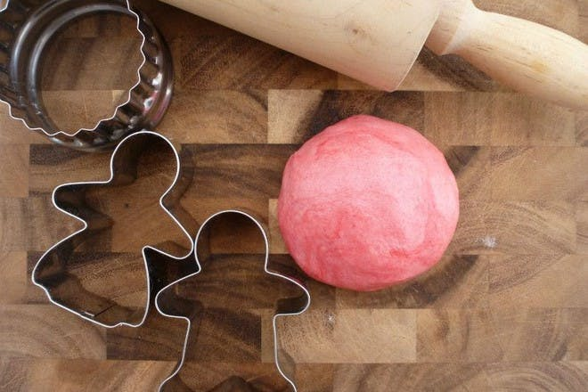 play dough and cookie cutters