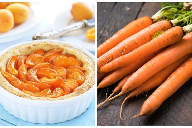 Apricot tart / carrots