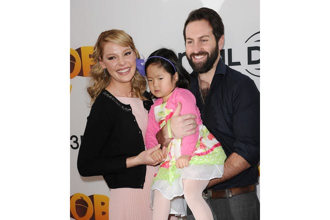 Katherine Heigl with Josh Kelley and adoptive daughter