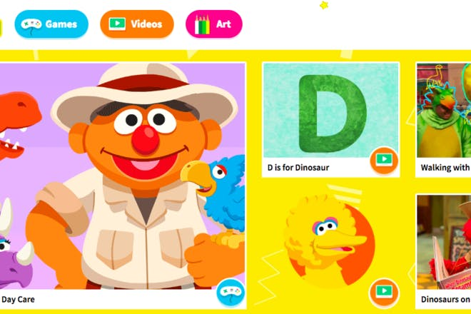 Sesame Street educational website