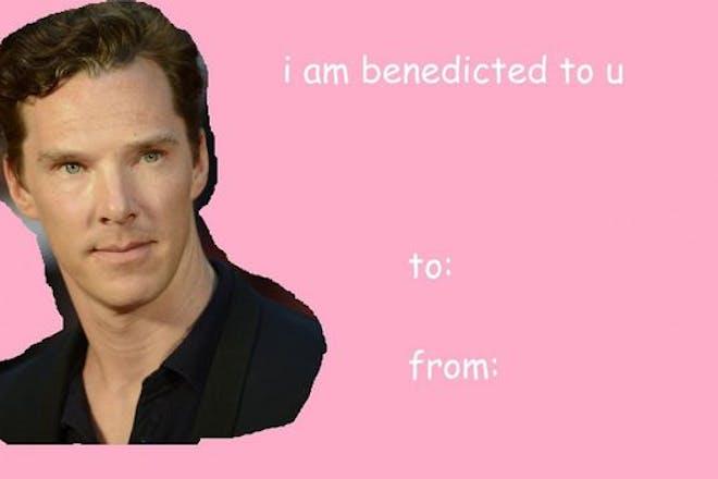 Valentine's Day card meme - Benedict Cumberbatch