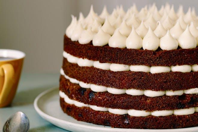 Carrot layer cake. Edd Kimber's carrot cake with mascarpone frosting recipe