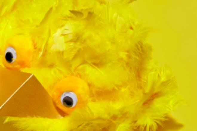 Big bird Easter bonnet
