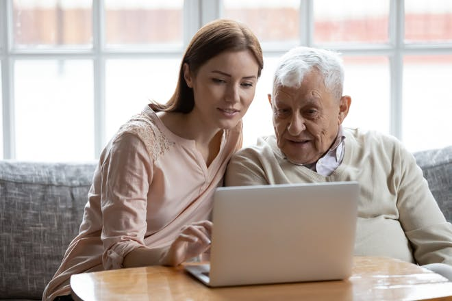 Helping older relatives with technology