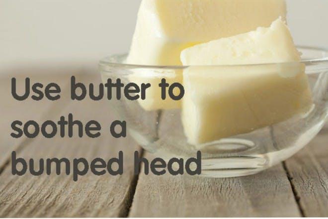 butter blocks in glass dish