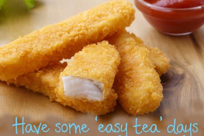 fish fingers and ketchup