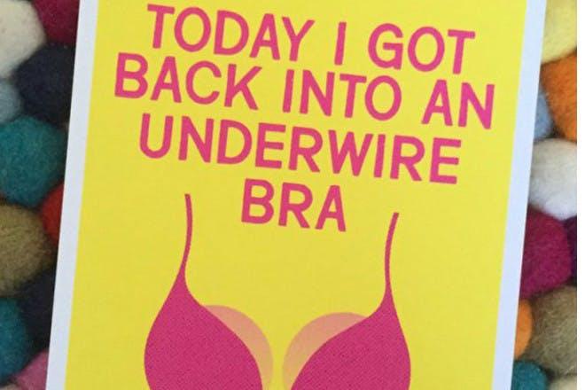 milestone bra card