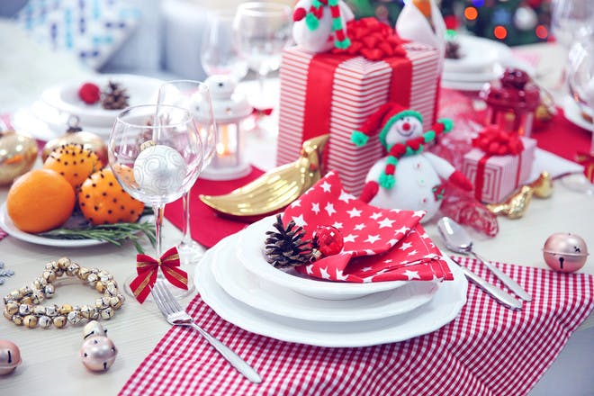 Christmas table presents