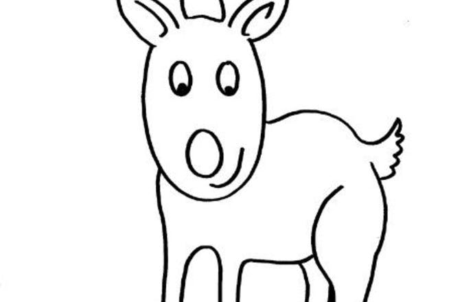 reindeer colouring