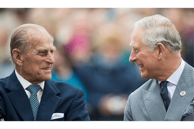 Prince Philip and charles