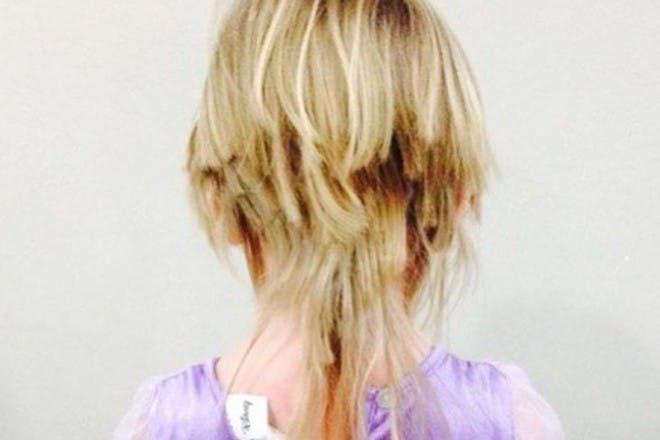 little girls badly chopped hair