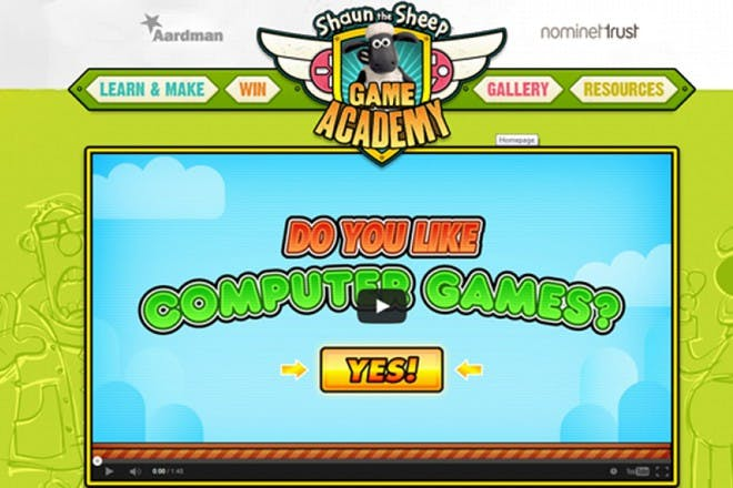 Shaun's Game Academy educational website