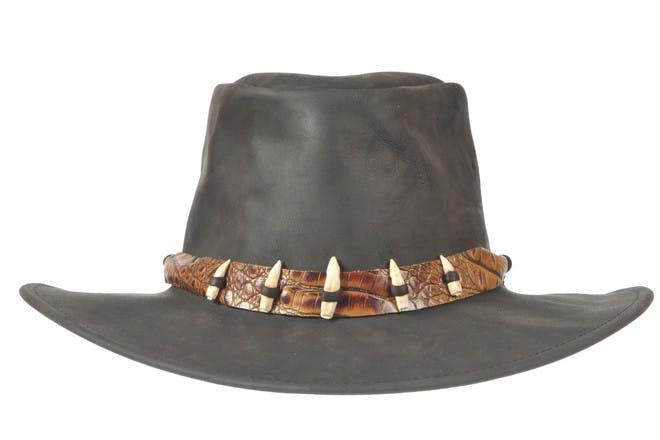 A crocodile skin hat