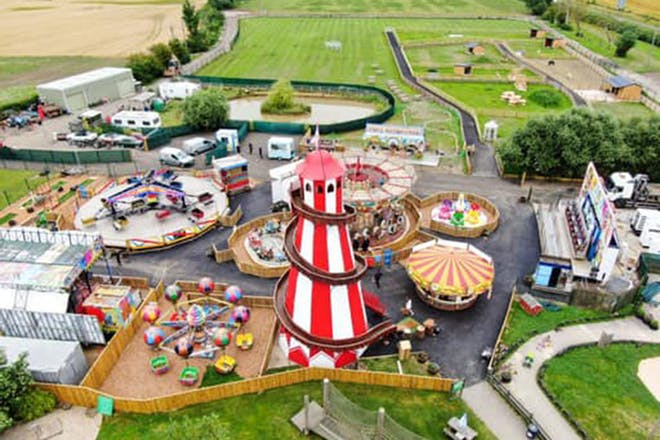 aerial view of the web adventure park