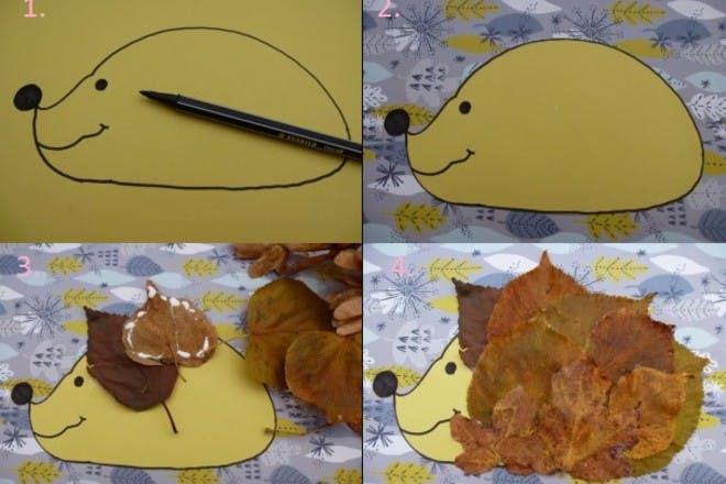 how to make leafy hedgehog