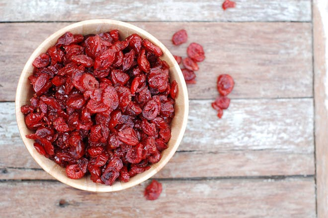 76. Dried cranberries