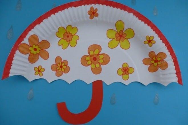 Paper plate umbrellas