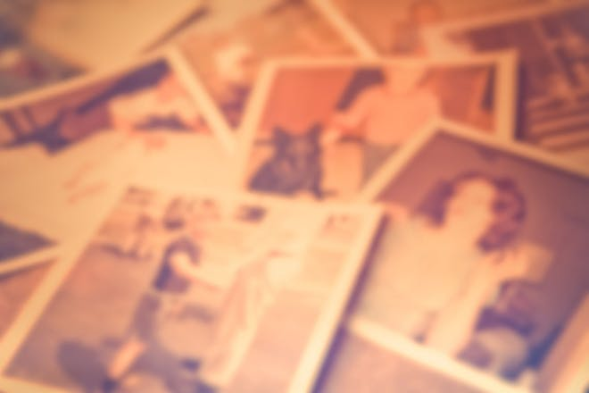 Selection of old blurred photos
