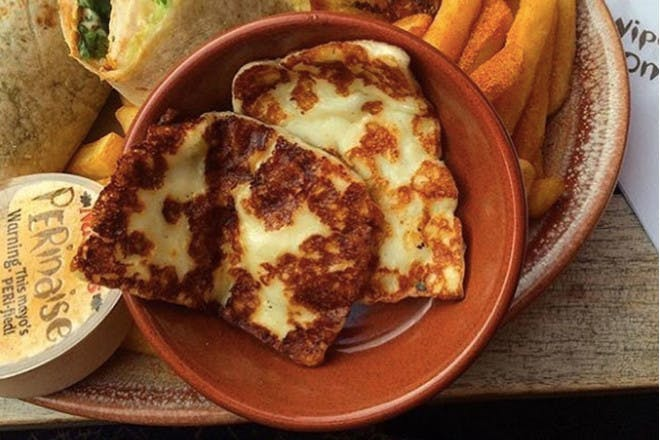 5. Grilled halloumi cheese