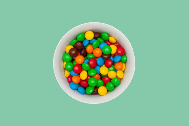 Smarties in a bowl