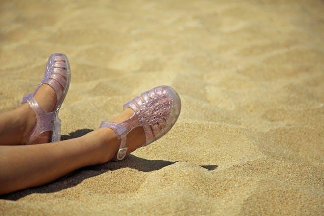 Nostalgic holidays jelly shoes