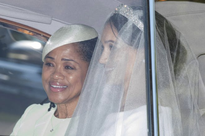 16. When Meghan's mum had a power nap en route to the reception