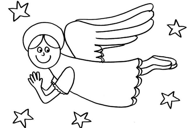 angel colouring