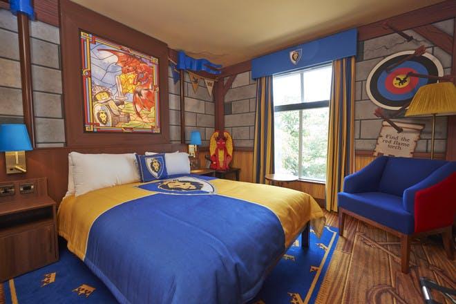 Knight's bedroom at Legoland Castle Hotel at Legoland Windsor