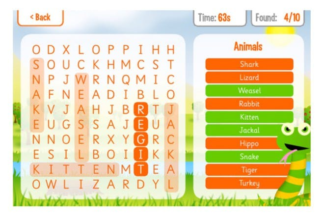 squeebles word search app
