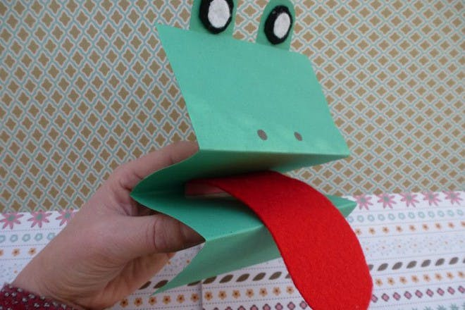 1. Folded card hand puppets