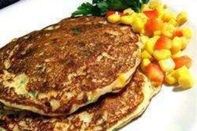 27. Potato and sweetcorn pancakes