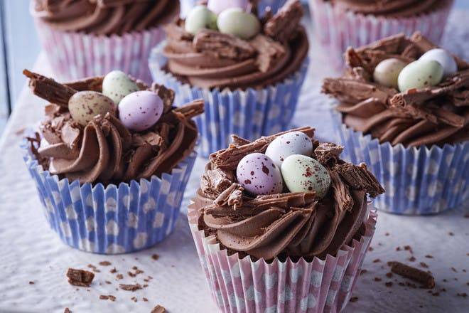 Easter nest cupcakes with mini eggs recipe