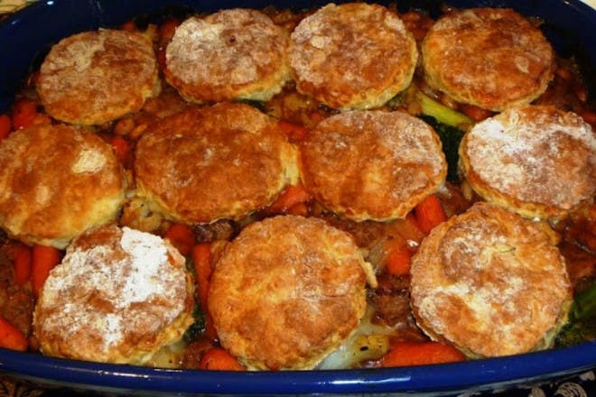 5. Quorn sausage and vegetable bean cobbler