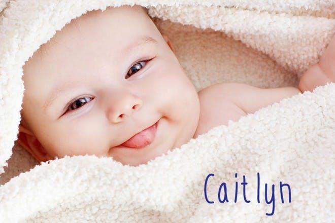 baby girl in towel