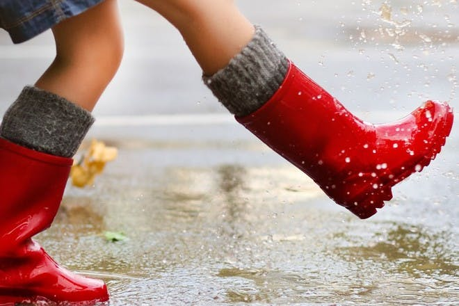 14. If it's pouring, go and jump in some puddles ...