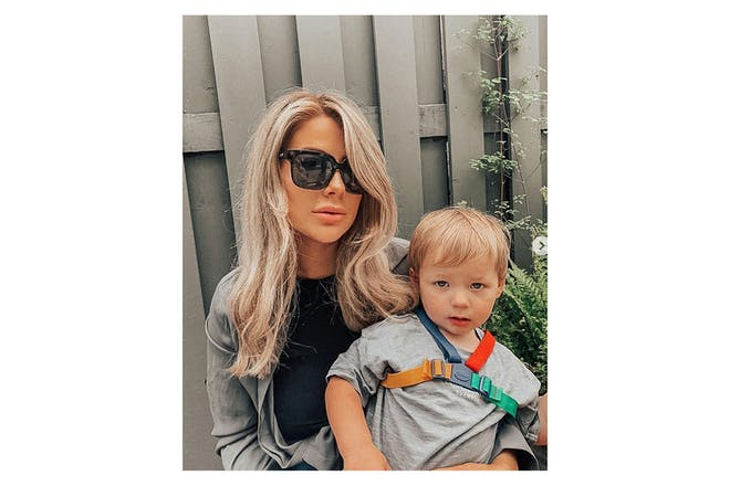 Jessica Hayes with her son Presley