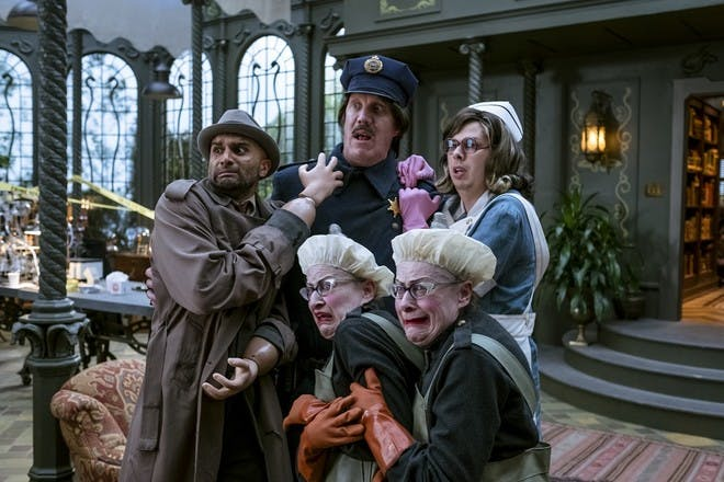 production still from Netflix A Series of Unfortunate Events - Count Olaf's friends