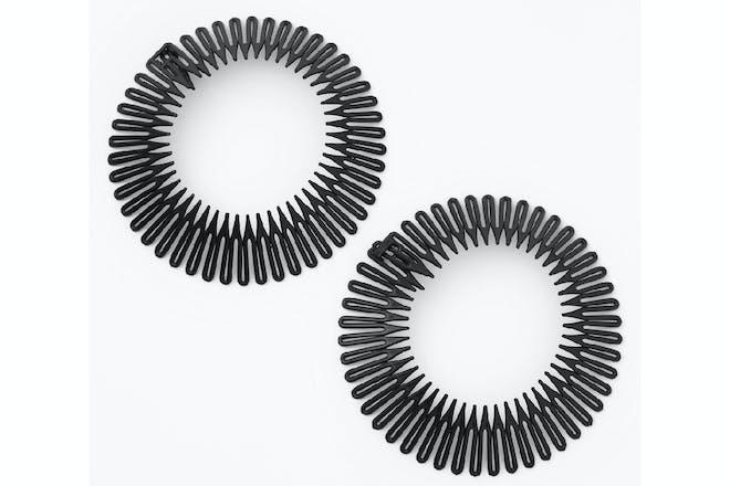 Accordion style zig zag hairbands