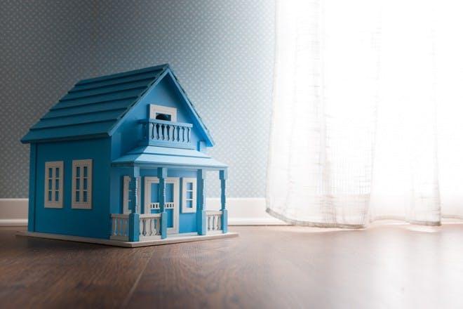 blue dollshouse