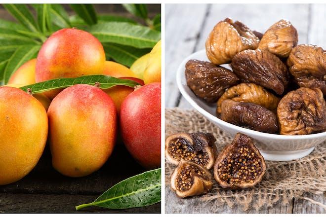 Fresh mango / dried figs