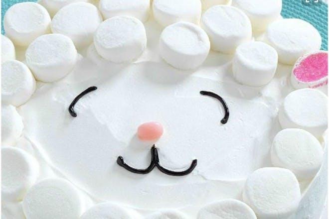 Lamb face cake