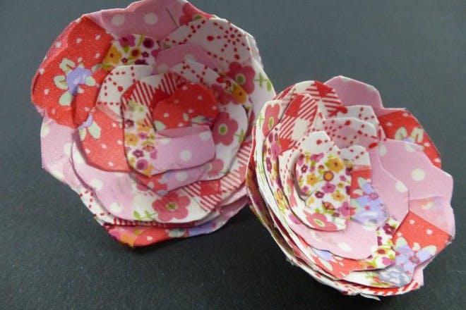 patterned washi flowers