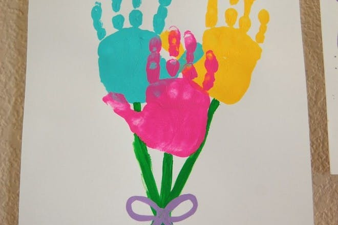 Hand-painted bouquet