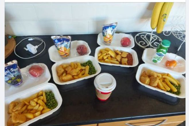 Facebook post with Asda free meals